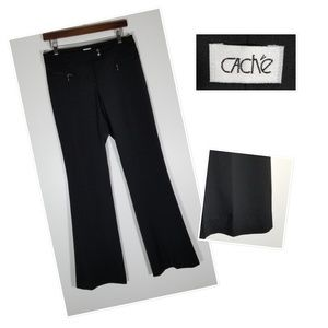 Cache Black Poly Blend Dress Pant, travel leisure